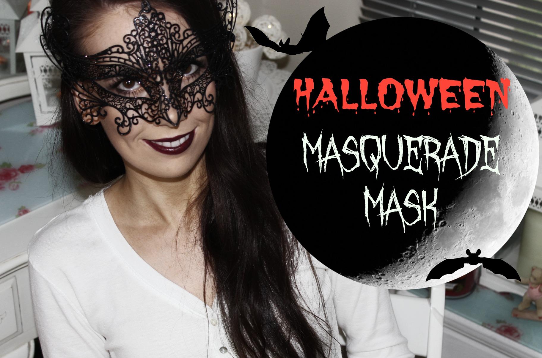 MASQUERADE MASK HALLOWEEN MAKEUP TUTORIAL - The Girl In The Tartan ...