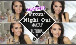 drugstore prom makeup tutorial
