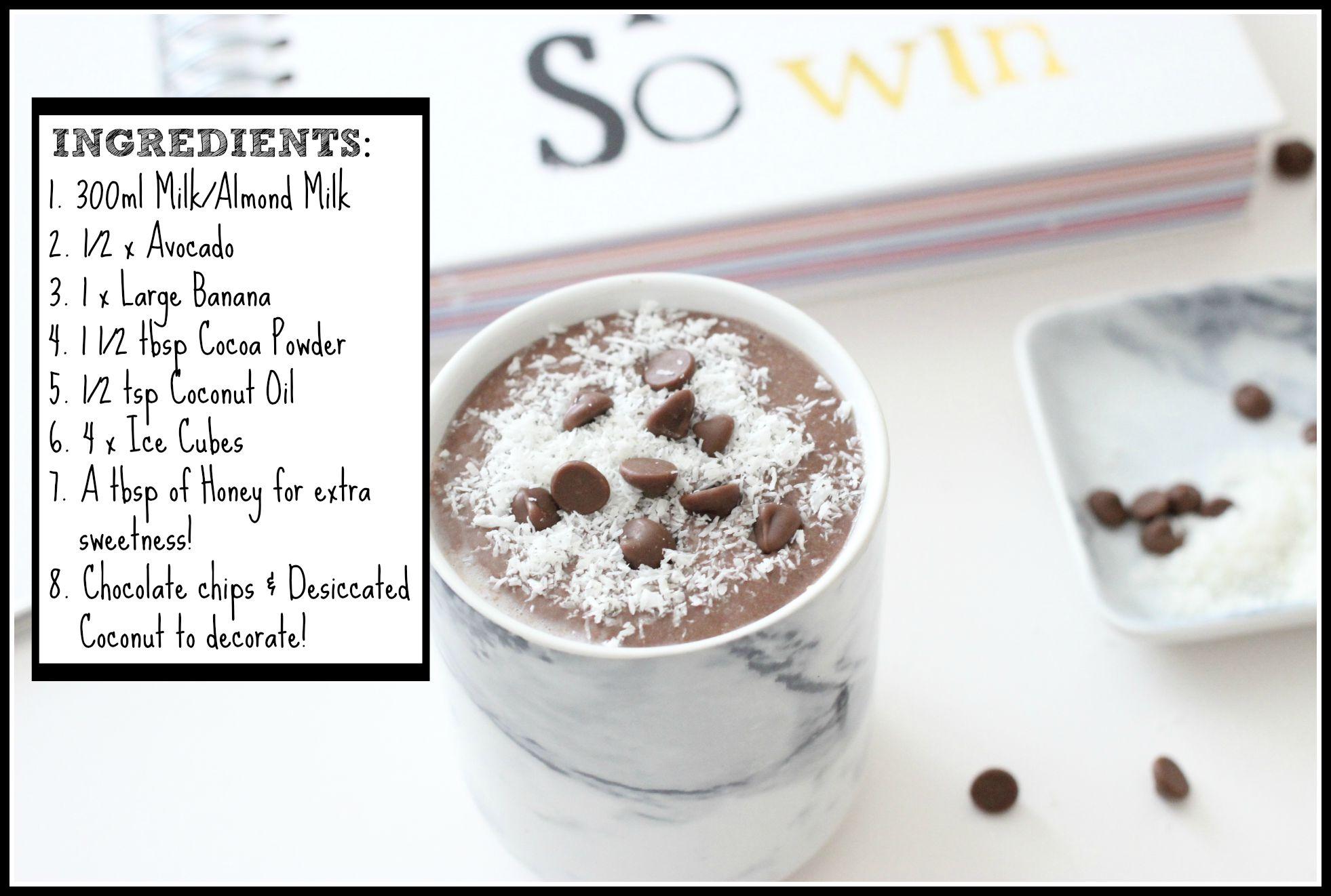 healthy chocolate breakfast smoothie recipe
