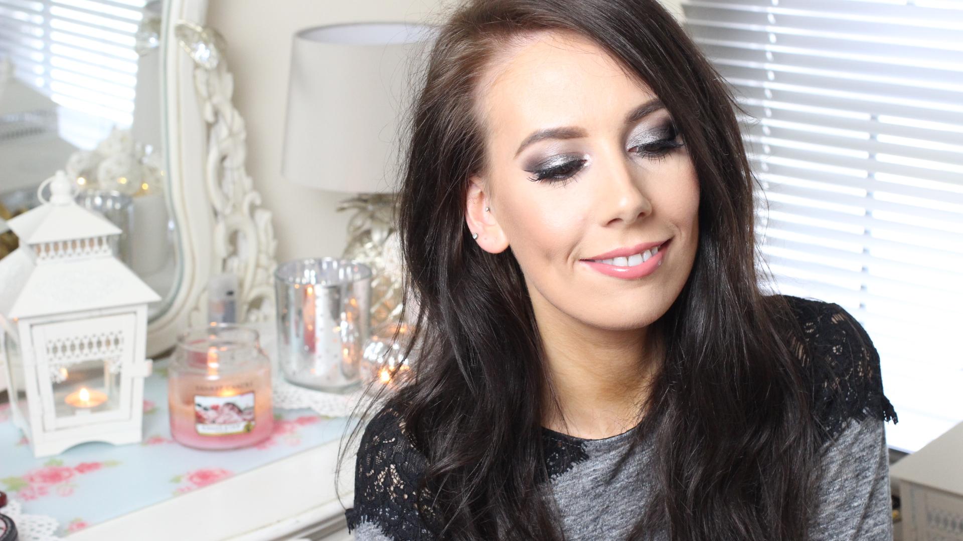 silver smoky eye makeup tutorial