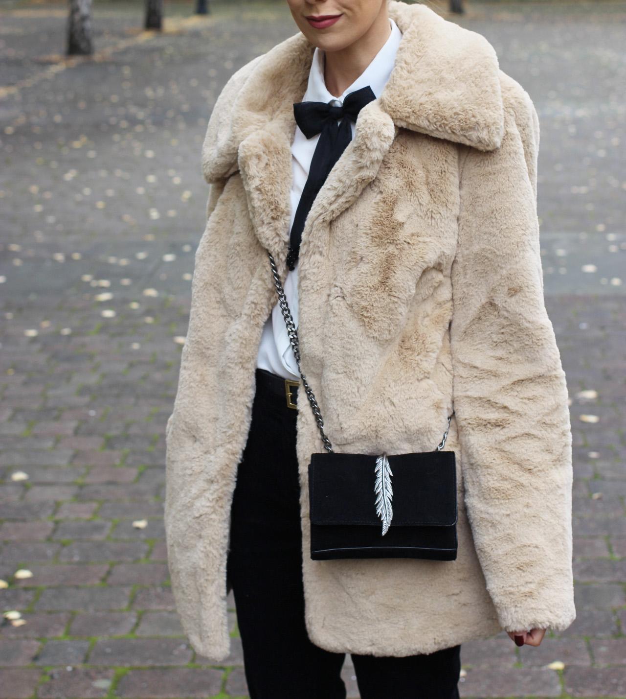 Zara suede feather bag