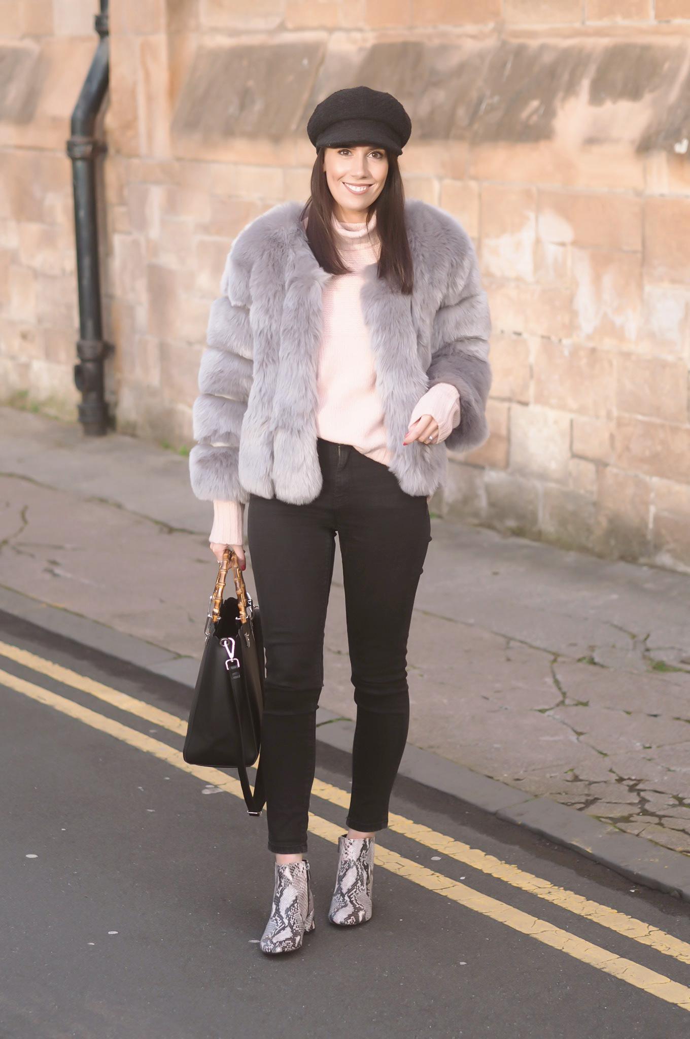 how to wear faux fur jacket | winter styling | the best faux fur coats 2017